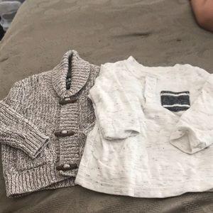 Bundle: Osh kosh sweater cat & jack thermal 12 mo